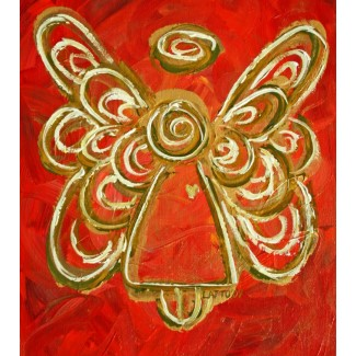 Red Angel Ornament Photo Sculpture Painting Print
