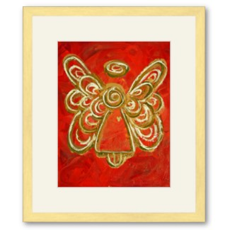 Red Angel Artwork Framed Poster Print