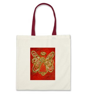 Red Angel Tote Bag Canvas Cotton