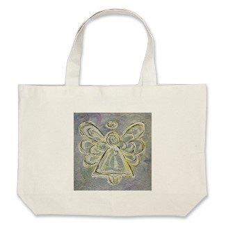 Silver and White Light Angel Tote Bag bag