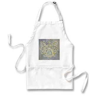 Silver and White Light Guardian Angel Apron apron
