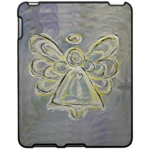 Silver White Angel iPad Hard Case