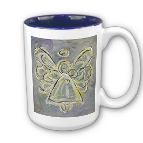 White and Silver Angel Mug or Cup mug