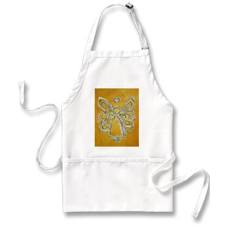 Yellow Angel Art Apron Gift
