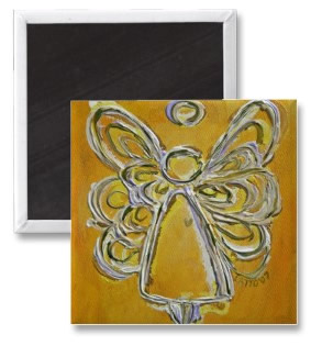 Yellow Angel Magnet Artwork