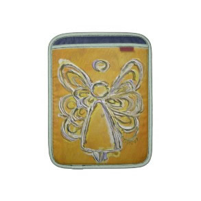 Yellow Angel Art Painting iPad Computer Sleeves rickshawsleeve
