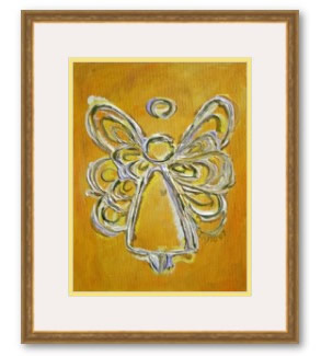 Yellow Angel Artwork Framed Painting