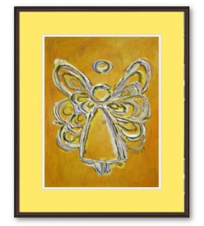 Yellow Angel Art Painting Framed