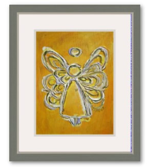 Yellow Angel Artwork Framed Painting Art Angels