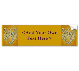 Yellow Angel Bumper Sticker
