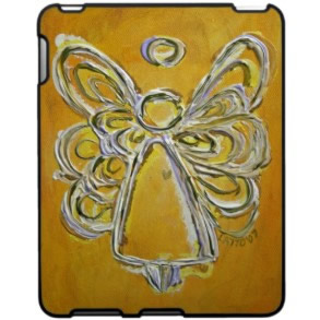 Yellow Angel iPad Case