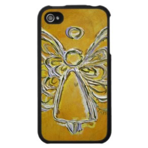 Yellow Angel iPhone 4 Case