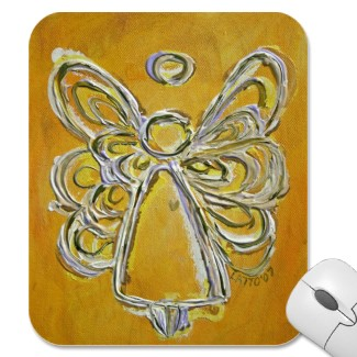 Yellow Angel Mousepad