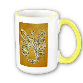 Yellow Angel Wings Mug