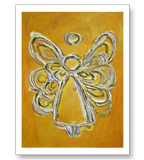 Yellow Angel Artwork Painting Postcards