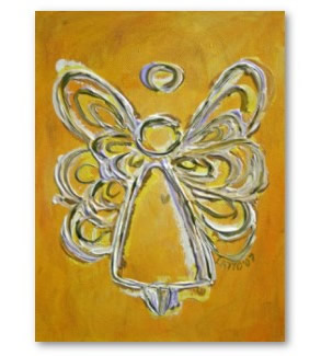 Yellow Angel Painting Art Print Poster