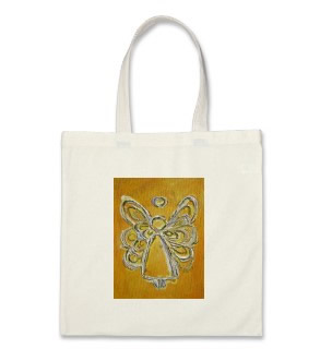 Yellow ANgel Wings Tote Bag