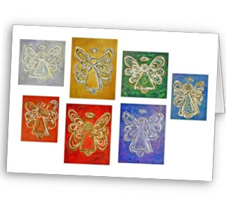 Angel Color Series Paintings Greeting Card or Note Cards