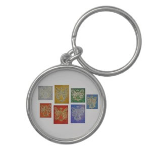Angel Color Series Key Chain Round