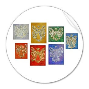 Angel Color Series Paintings Stickers