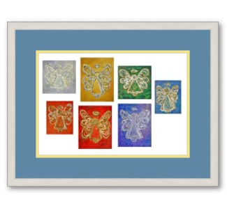 Angel Color Series Paintings Framed Art Print Poster
