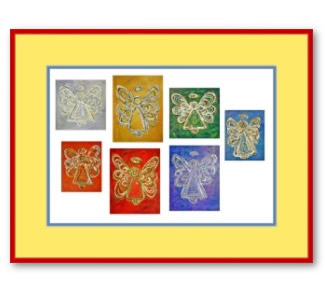 Angel Color Series Painting Framed Art Prints