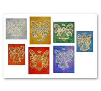 Angel Color Series Artwork Poster Print  Paintings