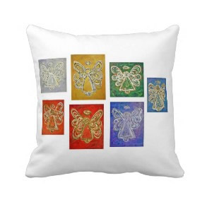 Color Series Angels Art Decorative Throw Pillow throwpillow