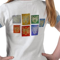 Angel Color Series T-shirt (Image on Back) shirt