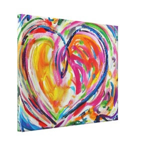 Heart of Joy Canvas Painting Art Painting wrappedcanvas