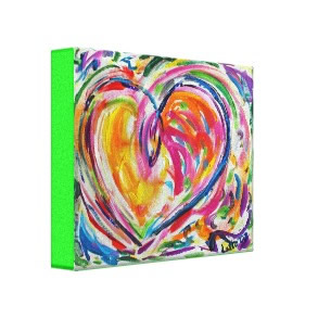 Heart of Joy Painting Canvas Art Print wrappedcanvas