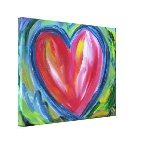 Heart with Hope Canvas Painting Art Painting wrappedcanvas
