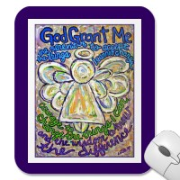 Serenity Prayer Angel Mousepad (English)