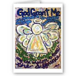 Serenity Prayer Angel Art Greeting or Note Cards card
