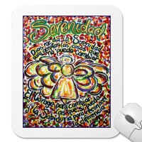 Serenity Prayer Angel Mousepad (Spanish text)