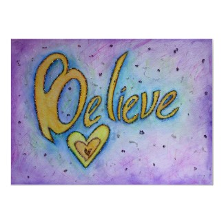 Believe Inspirational Word Art Painting Print print