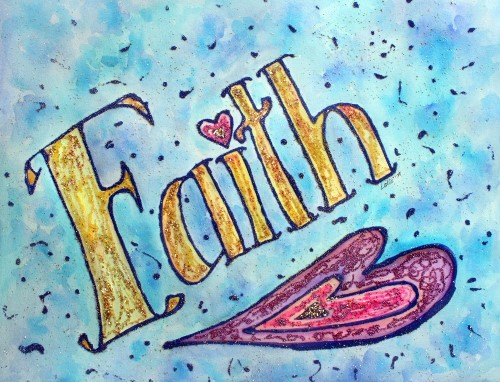 "Faith"" Inspirational Word Painting"