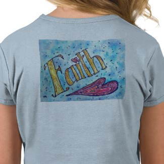 Faith T-shirt (Back Side Image)