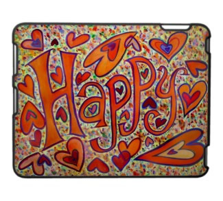 Happy Art iPad Fitted Plastic Hard Case