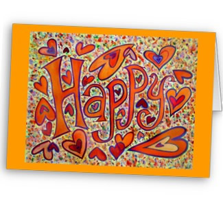 Happy Art Greeting Card