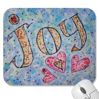 Joy Art Word Mousepad