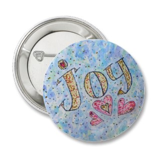 Joy Word Art Button