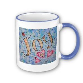 Joy Art Word Mug