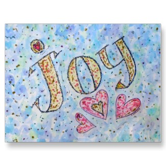 Joy WOrd Art Postcard