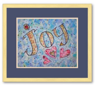 Joy Word Art Framed Print