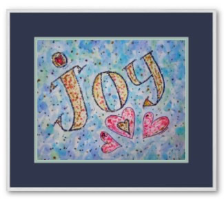 Joy Word Art Framed Poster Print