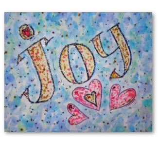 Joy WOrd Art Poster Print