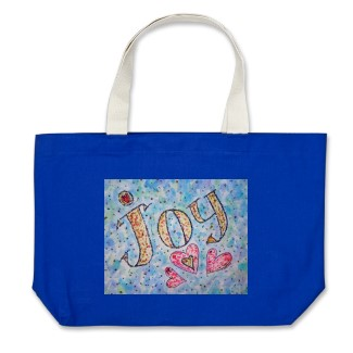 Joy Word Art Tote Bag