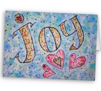 Joy Art Greeting Card