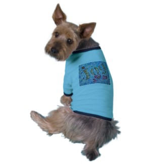 Joy Art Word Pet Clothing Dog Shirt